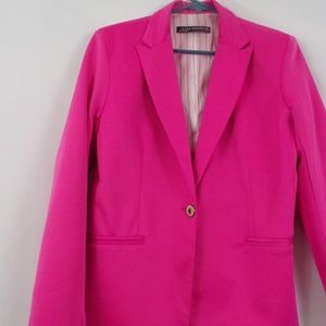 Zara Womans Hot Pink Blazer- Size  Medium(pre-own)